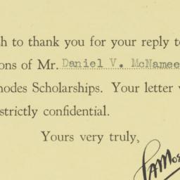 Letter : 1935 November 13