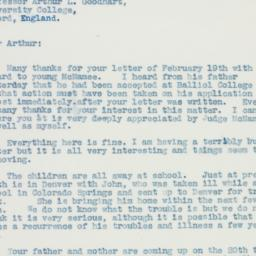 Letter : 1936 March 7