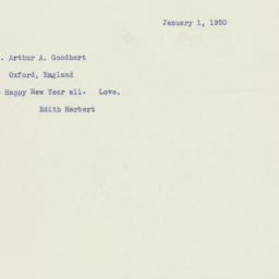 Letter : 1950 January 1
