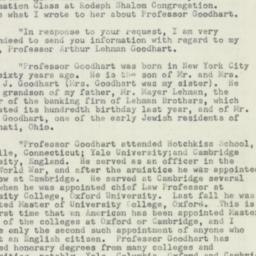 Telegram : 1952 February 14