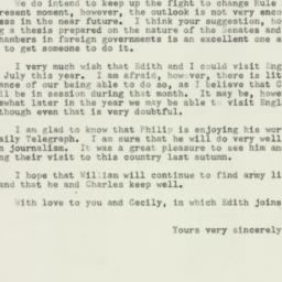 Letter : 1953 February 19
