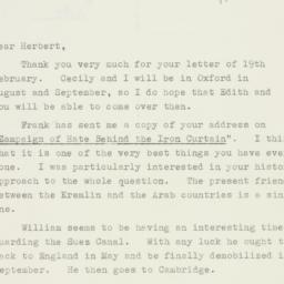 Letter : 1953 February 25