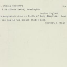 Letter : 1953 November 29