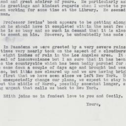 Invitation : 1962 February 13