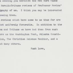 Letter : 1963 April 21