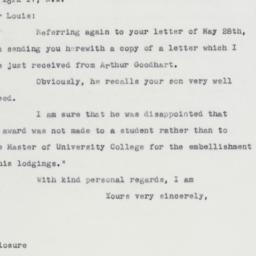 Letter : 1963 June 10