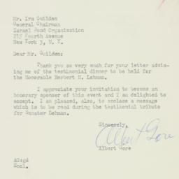 Letter : 1958 October 8
