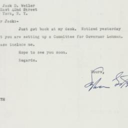 Letter : 1949 September 27