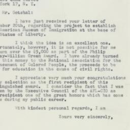 Telegram : 1956 December 29