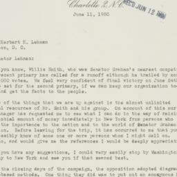 Letter: 1950 June 11