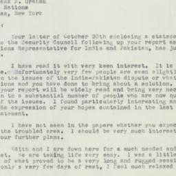 Letter : 1951 November 10