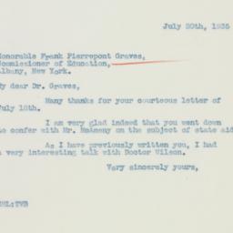 Letter : 1935 July 20