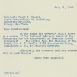 Letter : 1937 July 21