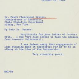 Letter : 1939 October 26