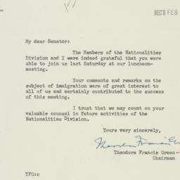 Letter : 1953 February 17