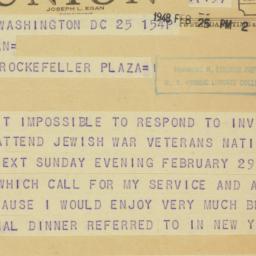 Press release : 1948 Februa...