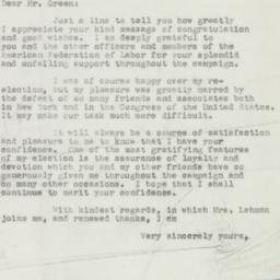 Letter : 1950 November 21