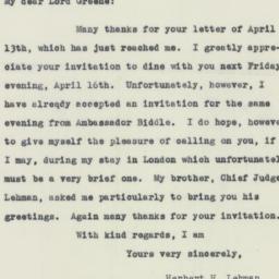 Letter : 1943 April 13