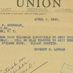 Letter : 1942 April 9