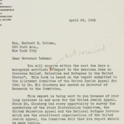 Letter : 1942 April 28