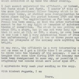 Letter : 1961 April 22