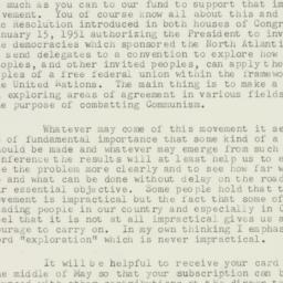 Letter : 1951 May 2