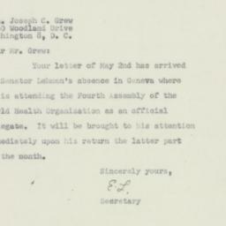 Invitation : 1951 May 7