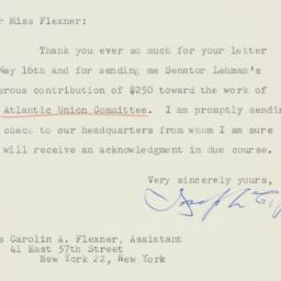 Letter : 1951 May 21