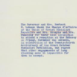Letter : 1941 November 4