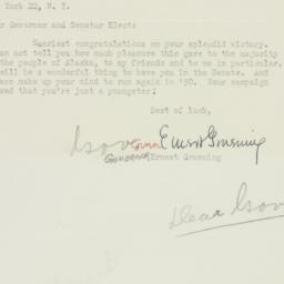 Letter: 1949 November 12
