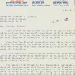 Letter: 1952 June 2