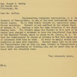 Letter : 1934 July 5