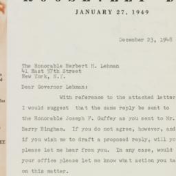 Memorandum : 1948 December 23