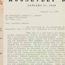 Letter : 1949 January 14