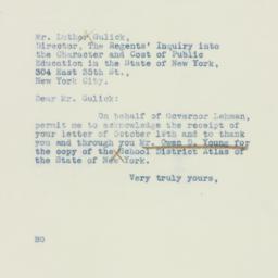 Letter: 1937 November 1