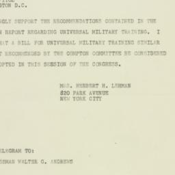 Letter : 1947 June 27