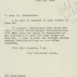 Letter : 1943 June 28