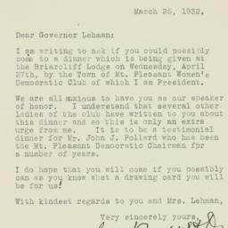 Letter : 1932 March 25