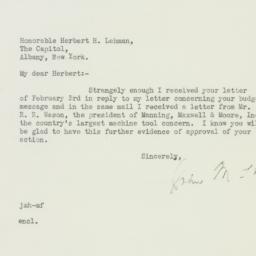 Letter : 1933 February 4