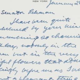 Letter : 1958 January 28
