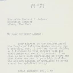Speech: 1939 May 1