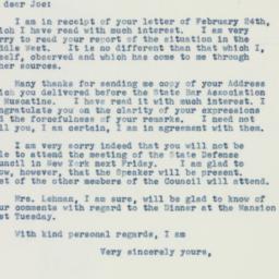 Letter : 1941 February 25