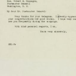 Telegram : 1946 September 19