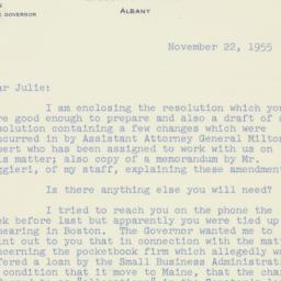 Invitation: 1955 November 22