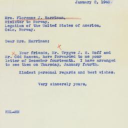 Letter : 1940 January 2