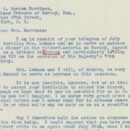 Letter : 1942 July 2