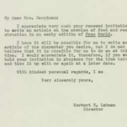 Letter : 1943 September 7