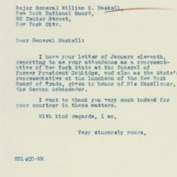 Letter : 1933 January 13