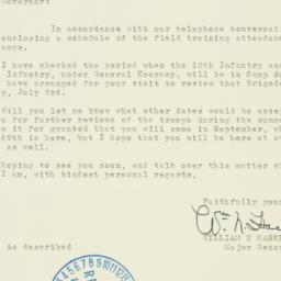 Letter : 1938 June 14