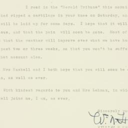 Letter : 1938 August 9